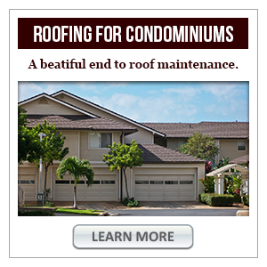 Put an end to roof maintenance on your condominium
