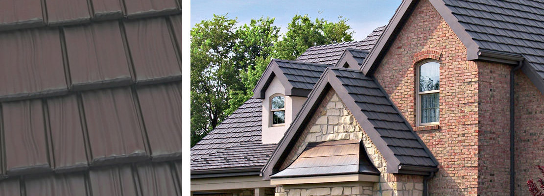 shake style roofing in metal