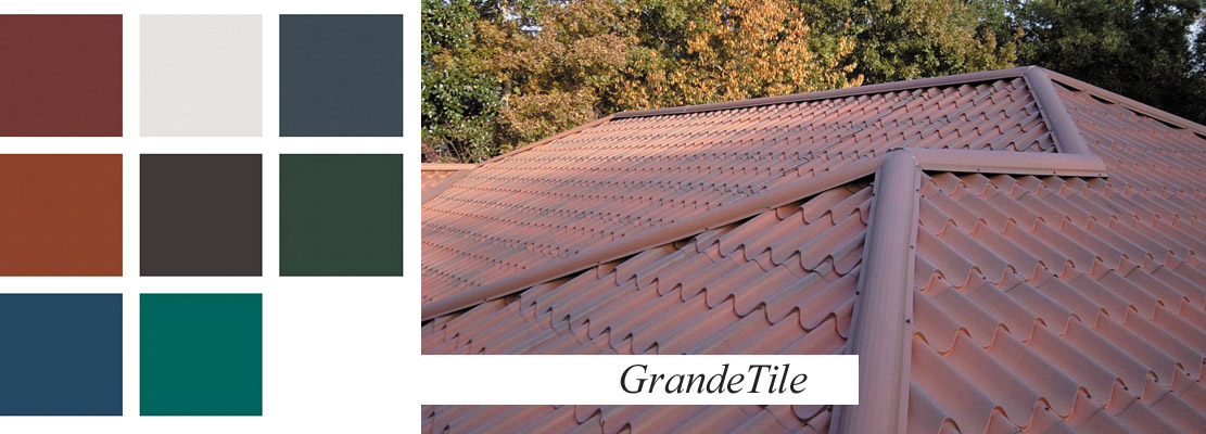 Clay Tile style roofing in metal