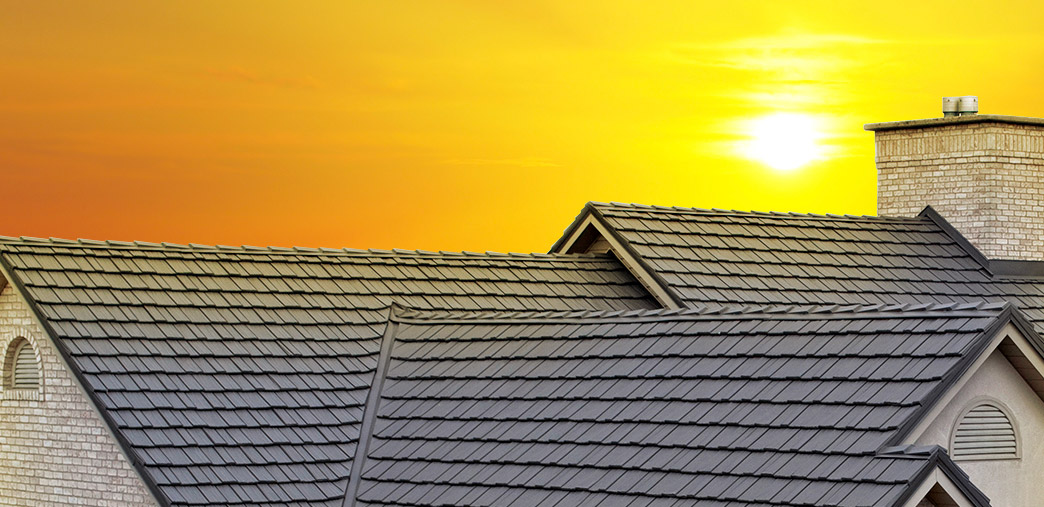 Metal Roofing under a bright sun