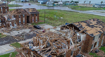 Hurricane Harvey destruction