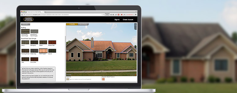 Visualize your home with a steel roof