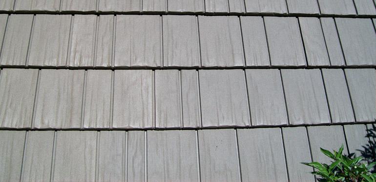 closeup of steel roof