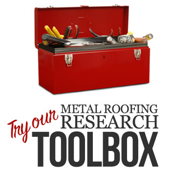 metal roofing research toolbox ad