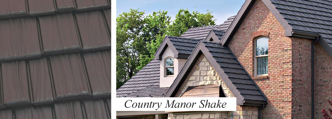 Wood Shake style roofing in metal
