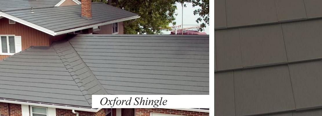 Shingles/Slatelate style roofing in metal