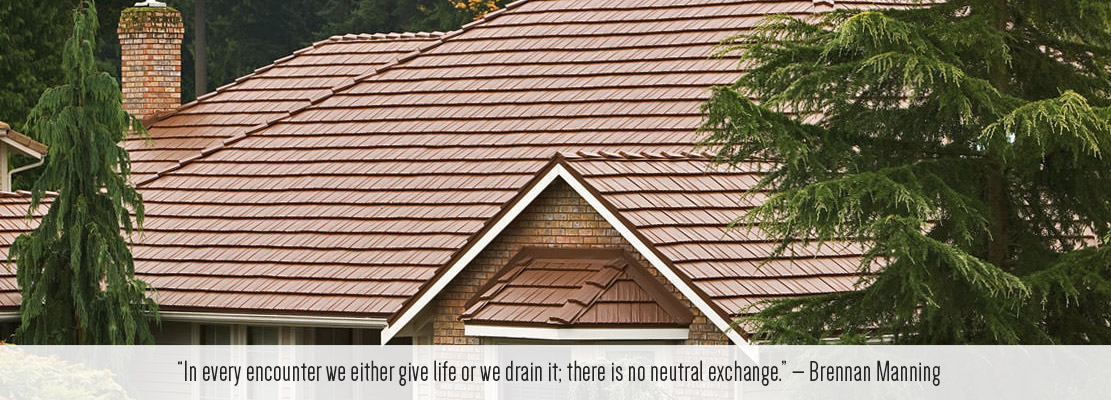 traditional shingle style roof in metal