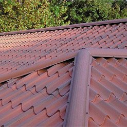 tile roofing in metal