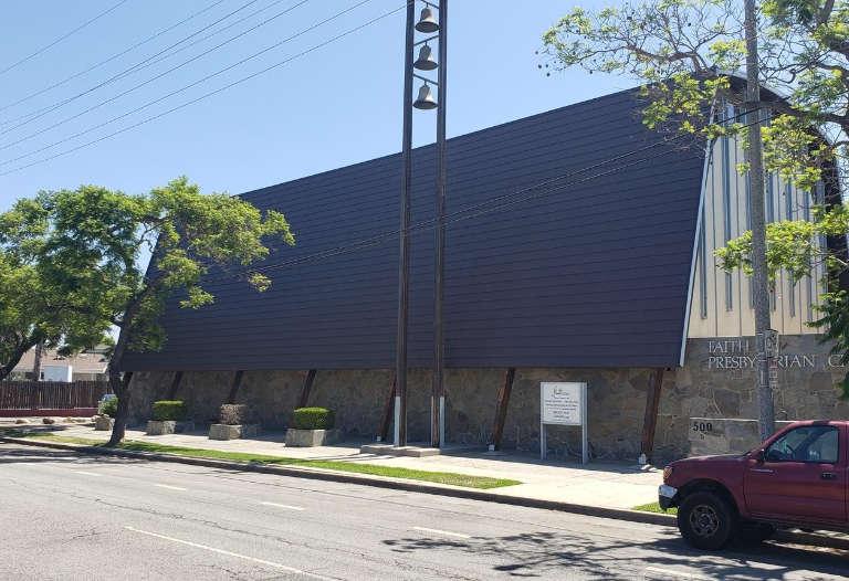 Church mansard roof