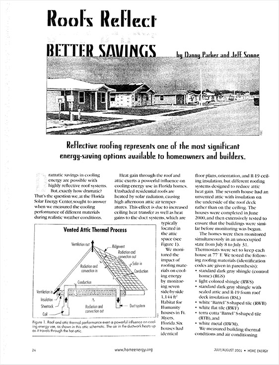 HomeEnergy.org Article - July/August 2001