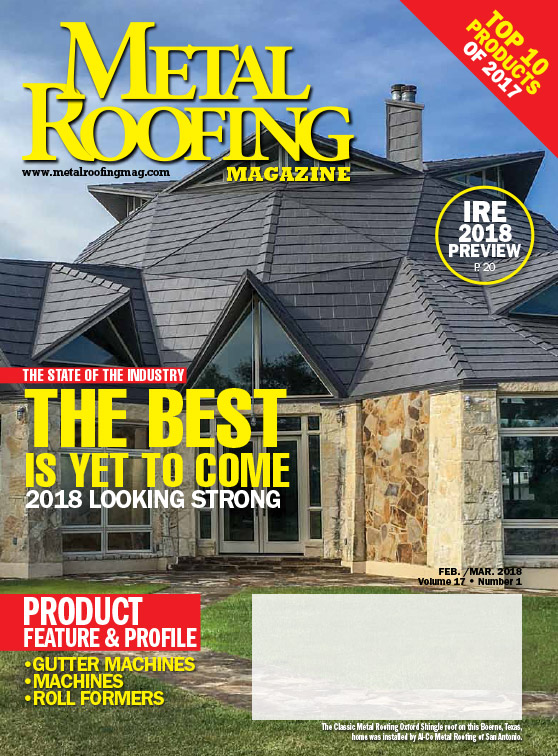 metal roofing magazine cover - February 2018