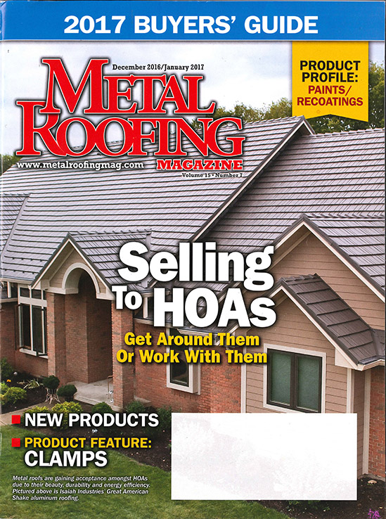 metal roofing magazine cover - January 2017