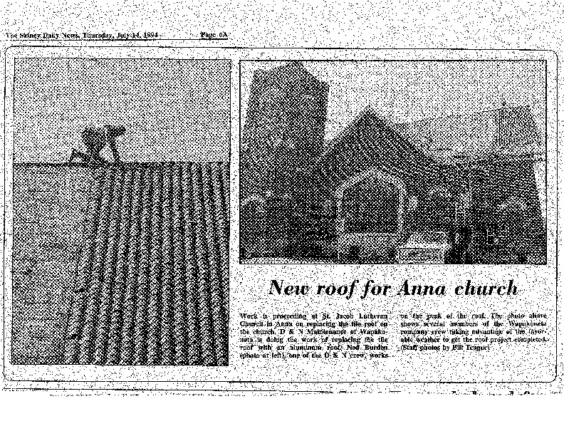 sidney daily news article 1994