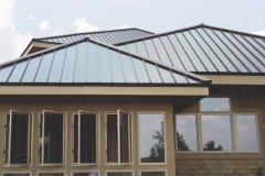 standing seam in mustang brown