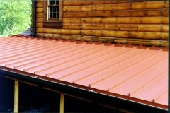standing seam in terra red
