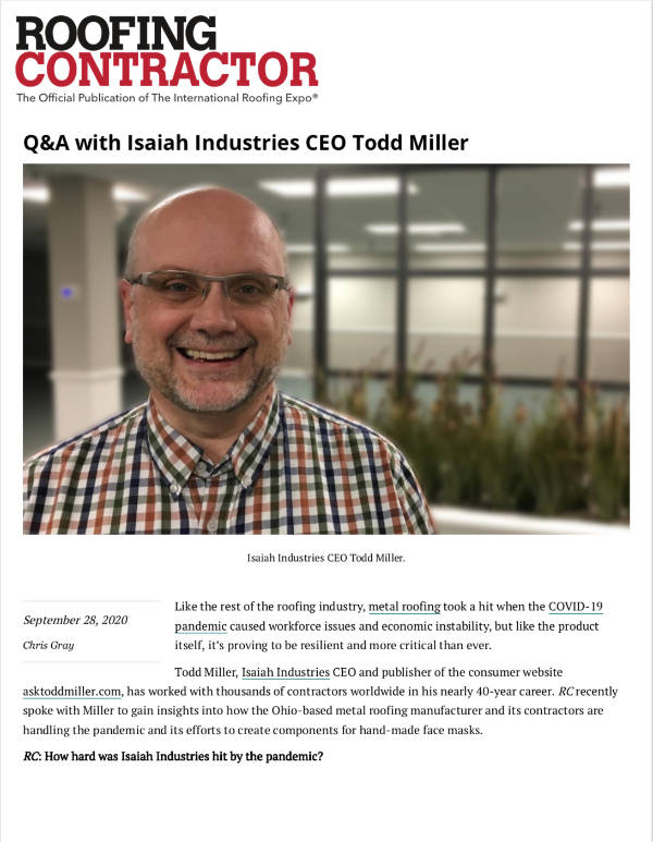Q&A with Isaiah Industries CEO Todd Miller