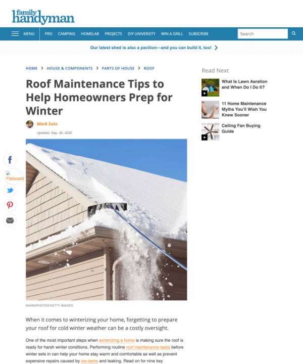 Roof Maintenance Tips to Help Homeowners Prep for Winter