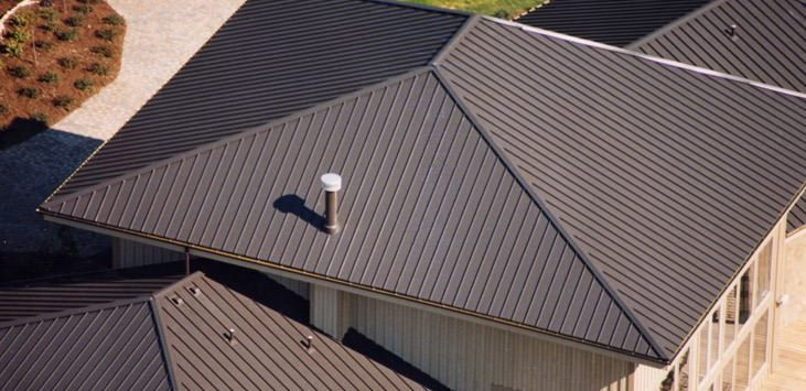 clicklock premium standing seam in mustang brown