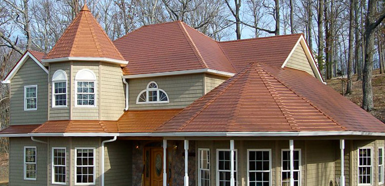 metal roofing in copper color