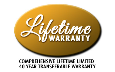 Lifetime Limited 40 Year Transferable Warranty